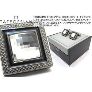 TATEOSSIAN タテオシアン クリスタル クアドラートネーロスワロフスキーカフス(クリスタル) (カフスボタン カフリンクス) ブランド|cufflink