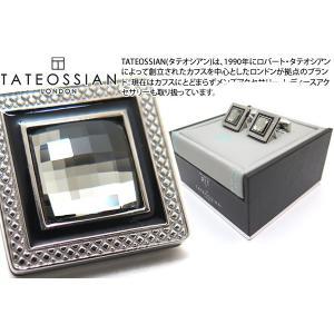 TATEOSSIAN タテオシアン クリスタル クアドラートロジウムスワロフスキーカフス(ブラックダイヤモンド) (カフスボタン カフリンクス) ブランド|cufflink