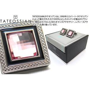 TATEOSSIAN タテオシアン クリスタル クアドラートロジウムスワロフスキーカフス(ライトローズ) (カフスボタン カフリンクス) ブランド|cufflink