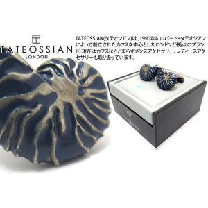 TATEOSSIAN タテオシアン マリン ノーチラスカフス(ブルーエナメル) (カフスボタン カフリンクス) ブランド|cufflink