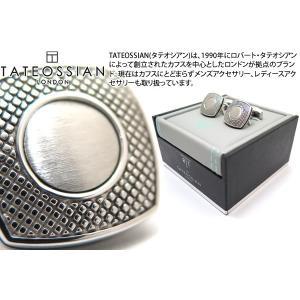 TATEOSSIAN タテオシアン ビジネス アルファスクウェアカフス(ロジウム) (カフスボタン カフリンクス) ブランド|cufflink