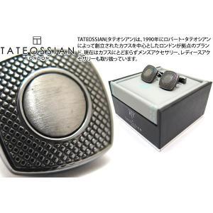 TATEOSSIAN タテオシアン ビジネス アルファスクウェアカフス(ガンメタル) (カフスボタン カフリンクス) ブランド|cufflink