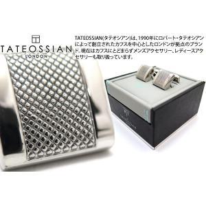 TATEOSSIAN タテオシアン ビジネス アルファDシェイプカフス(ロジウム) (カフスボタン カフリンクス) ブランド|cufflink