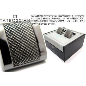 TATEOSSIAN タテオシアン ビジネス アルファDシェイプカフス(ガンメタル) (カフスボタン カフリンクス) ブランド|cufflink