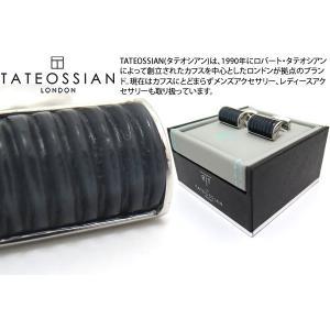 TATEOSSIAN タテオシアン ファイバーオプティックグラスDシェイプリブカフス(ブラック) 世界限定12セット(ブランド カフリンクス)|cufflink