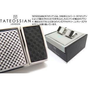 TATEOSSIAN タテオシアン カーボンスリムUSBメモリカフス(ロジウム&ブラック、16G+16G) (カフスボタン カフリンクス) ブランド|cufflink