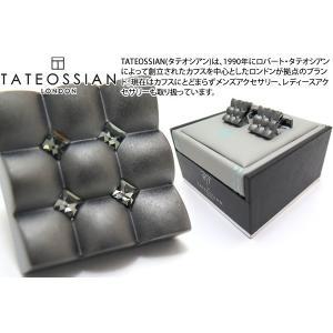 TATEOSSIAN タテオシアン クリスタル スクウェアスカラプトカフス(ブラックダイヤモンド) (カフスボタン カフリンクス) ブランド cufflink