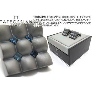 TATEOSSIAN タテオシアン クリスタル スクウェアスカラプトカフス(モンタナ) (カフスボタン カフリンクス) ブランド cufflink