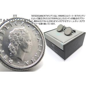 TATEOSSIAN タテオシアン スピニングコインカフス(ガンメタル)世界限定28セット (カフスボタン カフリンクス) ブランド|cufflink