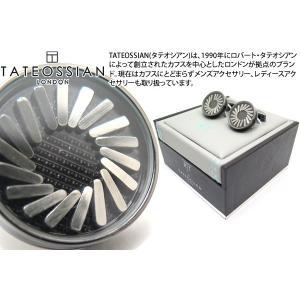 TATEOSSIAN タテオシアン プレイタイム スイングピンカフス(ガンメタル&ブラック) (カフスボタン カフリンクス) ブランド cufflink