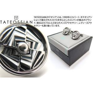 TATEOSSIAN タテオシアン ノベルティ ミラージュエナメルカフス(ロジウム&グレイ) (カフスボタン カフリンクス) ブランド cufflink