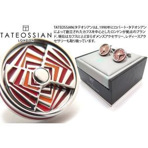 TATEOSSIAN タテオシアン ノベルティ ミラージュエナメルカフス(ロジウム&レッド) (カフスボタン カフリンクス) ブランド cufflink