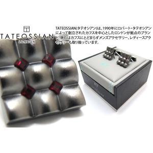 TATEOSSIAN タテオシアン クリスタル スクウェアスカラプトカフス(シャム) (カフスボタン カフリンクス) ブランド|cufflink
