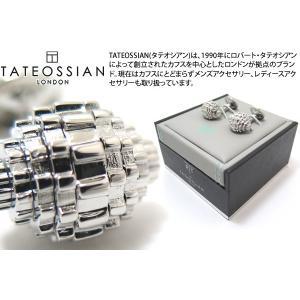 TATEOSSIAN タテオシアン メカニカル ギアスフィアカフス(ロジウム) (カフスボタン カフリンクス) ブランド|cufflink