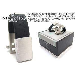 TATEOSSIAN タテオシアン ノベルティ オポルトラップアラウンドカフス(ロジウム&ブラックコルク) (カフスボタン カフリンクス) ブランド|cufflink