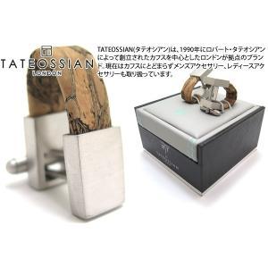 TATEOSSIAN タテオシアン ノベルティ オポルトラップアラウンドカフス(ロジウム&ナチュラルコルク) (カフスボタン カフリンクス) ブランド|cufflink