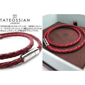 TATEOSSIAN タテオシアン 編み上げポップレザーブレスレット(レッド) (レザーブレスレット) ブランド|cufflink