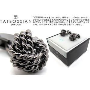 TATEOSSIAN タテオシアン ガンメタルラウンドノットカフス (カフスボタン カフリンクス) ブランド|cufflink