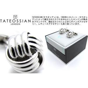 TATEOSSIAN タテオシアン ノットリブカフス(ロジウム) (カフスボタン カフリンクス) ブランド|cufflink