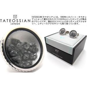 TATEOSSIAN タテオシアン ブラックダイヤモンドダストカフス(ロジウム) (カフスボタン カフリンクス) ブランド|cufflink