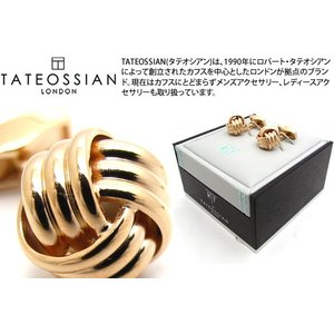 TATEOSSIAN タテオシアン ノットリブカフス(ピンクゴールド) (カフスボタン カフリンクス) ブランド|cufflink
