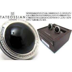 TATEOSSIAN タテオシアン シグニチャーラウンドシルバーカフス(オニキス) (カフスボタン カフリンクス) ブランド|cufflink
