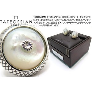 TATEOSSIAN タテオシアン シグニチャクリサンセマムドームシルバーカフス(白蝶貝) (カフリンクス) ブランド|cufflink