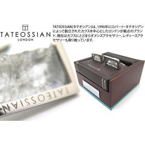 TATEOSSIAN タテオシアン ラフエッジシルバーカフス(ブラックルチルクォーツ) (カフスボタン カフリンクス) ブランド|cufflink