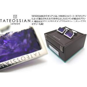 【P10倍】 TATEOSSIAN タテオシアン ラフエッジシルバーカフス(アメジスト) (カフスボタン カフリンクス) ブランド|cufflink