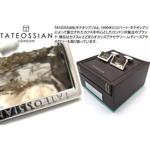 TATEOSSIAN タテオシアン ラフエッジシルバーカフス(スモーキークォーツ) (カフスボタン カフリンクス) ブランド|cufflink