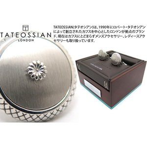 TATEOSSIAN タテオシアン シグニチャクリサンセマムドームシルバーカフス(サテン) (カフスボタン カフリンクス) ブランド|cufflink