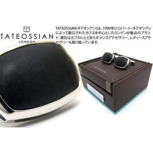 【P10倍】 TATEOSSIAN タテオシアン シグニチャピロウシルバーカフス(マットオニキス) (カフスボタン カフリンクス) ブランド|cufflink