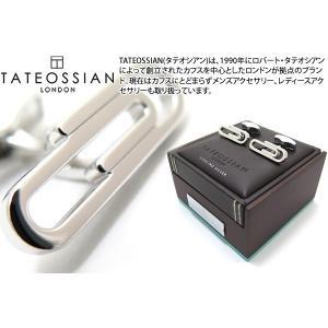 TATEOSSIAN タテオシアン クリップシルバーカフス (カフスボタン カフリンクス) ブランド|cufflink