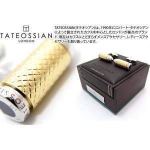 TATEOSSIAN タテオシアン バレットチャンバーシルバーカフス(イエローゴールドメッキ) (カフスボタン カフリンクス)|cufflink