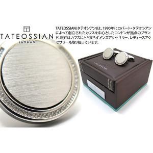 TATEOSSIAN タテオシアン シグニチャシルバーカフス(ロジウム) (カフスボタン カフリンクス)|cufflink