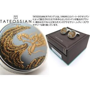 TATEOSSIAN タテオシアン 蒔絵シルバーカフス(火-ヘマタイト) (カフスボタン カフリンクス)|cufflink