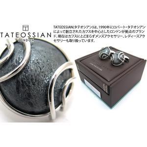TATEOSSIAN タテオシアン スペキュラヘマタイトシルバーカフス 世界限定42セット (カフスボタン カフリンクス)|cufflink