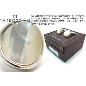 TATEOSSIAN タテオシアン ジェムツイステッドラウンドシルバーカフス(白蝶貝) (カフスボタン カフリンクス)|cufflink