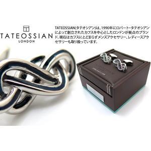 TATEOSSIAN タテオシアン エナメルエタニティシルバーカフス(ロジウム&ネイビー) (カフスボタン カフリンクス)|cufflink