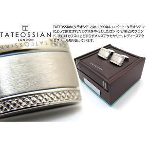 TATEOSSIAN タテオシアン シグニチャDシェイプシルバーカフス(ロジウム) (カフスボタン カフリンクス)|cufflink