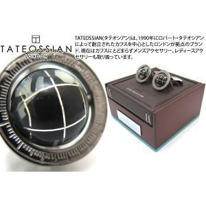 TATEOSSIAN タテオシアン 地球儀カフス(オニキス・ブラックロジウム)世界限定120セット (カフスボタン カフリンクス)|cufflink