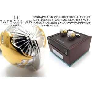 TATEOSSIAN タテオシアン 地球儀オーシャニックシルバーカフス(ロジウム&イエローゴールド) (カフスボタン カフリンクス)|cufflink