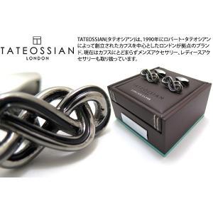 TATEOSSIAN タテオシアン エナメルエタニティシルバーカフス(ブラック&ブラック) (カフスボタン カフリンクス)|cufflink