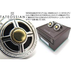 TATEOSSIAN タテオシアン プレシャスUFOシルバーカフス(オニキス&ブラック) (カフスボタン カフリンクス)|cufflink