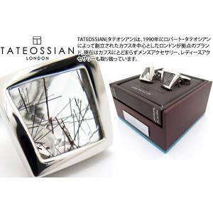 TATEOSSIAN タテオシアン ジェムツイステッドシルバーカフス(ブラックルチルクォーツ) (カフリンクス) ブランド|cufflink