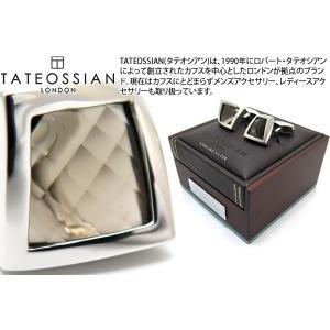 TATEOSSIAN タテオシアン ジェムツイステッドシルバーカフス(スモーキークォーツ) (カフリンクス) ブランド|cufflink