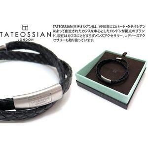 TATEOSSIAN タテオシアン レザー シルバーコブラドッピオブレスレット(ブラック) ブランド|cufflink