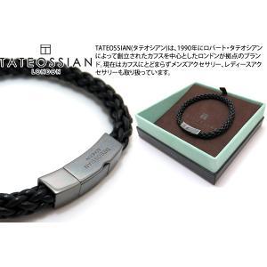 TATEOSSIAN タテオシアン レザーシルバークリックトレンザブレスレット(ブラックロジウム&ブラック) ブランド|cufflink