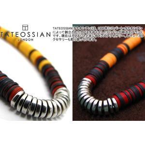 【P10倍】 TATEOSSIAN タテオシアン シルバーラスタリサイクルビニールビーズブレスレット(イエロートーン) ブランド|cufflink
