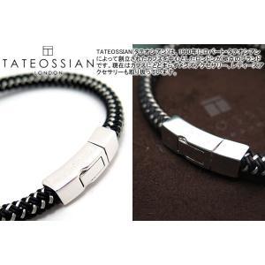 TATEOSSIAN タテオシアン シルバークリックステラブブレスレット(ブラック) (レザーブレスレット) ブランド|cufflink